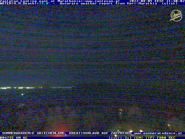 1.webcam on zakynthos zante- sponsored by House Marathia Zakynthos greece Griechenland